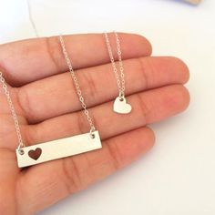 Mother Daughter Necklace - Mother's Day Gift Idea