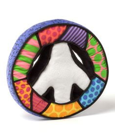 Love this Mini Peace Sign Plush by Romero Britto on #zulily! #zulilyfinds