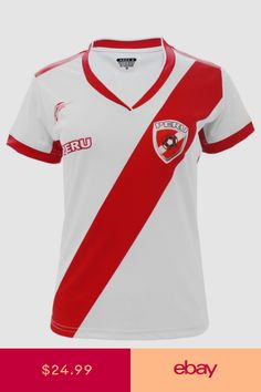 897f32fe345 Peru Women Soccer Jersey Arza Design Color White  Red Polyester With V Neck