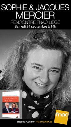 Rencontrez Sophie Mercier le 24 septembre à la Fnac de Liège