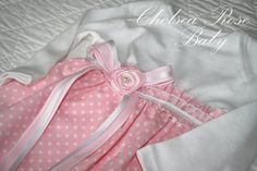 Baby Dress Baby Girl bodysuit Sleep Gown by ChelseaRoseBaby, $36.00