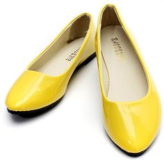 f2237a27e320 Candy Color Patent Leather Pointed Toe Slip On Flat Ballet Shoes
