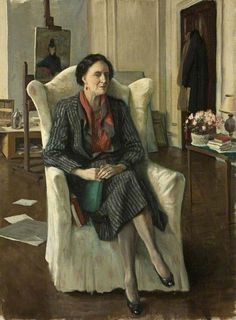 Edith Olivier (1872–1948), First Lady Mayor of Wilton  by Rex Whistler        Date painted: 1939–1940