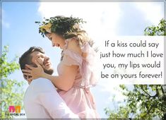 Romantic Love SMS For Girlfriend - A Kiss Love Images For Lover, Romantic Love Sms, Love Messages For Wife, Good Morning My Love, Cute Love Quotes, Girlfriends, Kiss, Love You, In This Moment