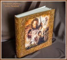 Декор и декупаж: классический фотоальбом в необычном оформлении - Ярмарка Мастеров - ручная работа, handmade