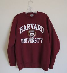 Rare Vintage Ivy League Harvard Crewneck Sweater/Sweatshirt ❤ liked on Polyvor. Hoodie Sweatshirts, Crewneck Sweater, Crew Neck Sweatshirt Outfit, Sweatshirt Refashion, Hoody, The Pioneer Woman, Tokyo Street Fashion, Harvard Sweatshirt, Harvard University