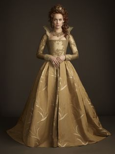 Rachel Skarsten in Reign. At least this one has VAGUELY Tudor likes -- great as a fantasy costume.