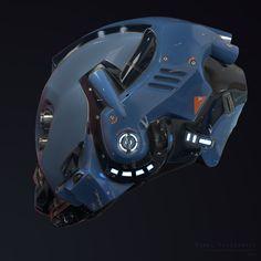 ArtStation - Sci-Fi Helmet, Pawel Ptaszynski
