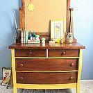 Hometalk :: Child's Chalkpainted Dresser and Bookshelf