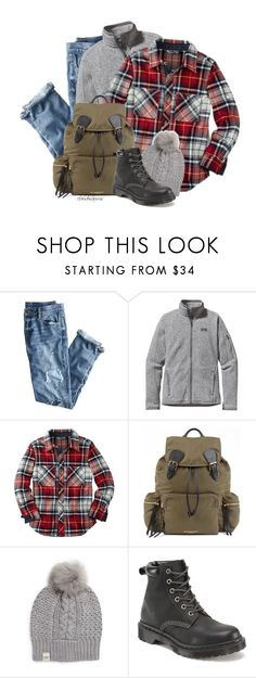 """""""let's go hiking"""" by cloudosaurus ❤ liked on Polyvore featuring J.Crew, Patagonia, Burberry, UGG Australia and Dr. Martens"""
