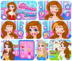 Hairstyles Games Enchanting Gameoftheday Httpwwwgirlgames4Ucinderella_Snewhairstyle