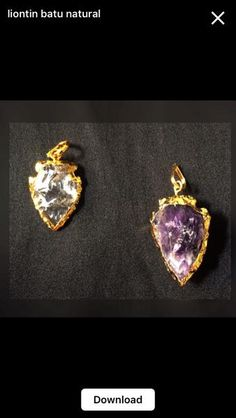 Jual Beli Liontin Batu Natural Crystal Quartz & Amethyst Baru | Berbagai Jenis Batu Cincin |  Bukalapak