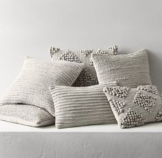 Textured Merino Wool Pillow Cover - Grey - love all the texture Brown Bed Linen, Neutral Bed Linen, Wool Pillows, Diy Pillows, Throw Pillows, Blue Pillows, Boho Cushions, Modern Pillows, Accent Pillows