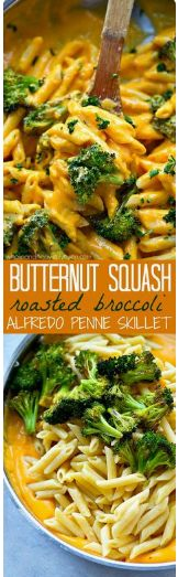 Butternut squash with roasted broccoli