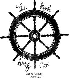 Helm by Matthew Allen Ship Wheel Tattoo, Pirate Ship Wheel, Nautical Prints, Nautical Anchor, Matthew Allen, Anchor Illustration, Mom Tattoos, Surf Style, Picture Wall