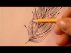 How to draw tanglepattern Featherfall by Ellen Wolters