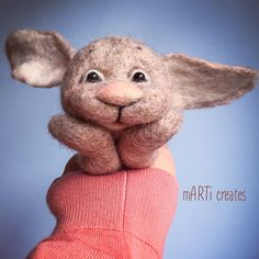 #felting #figurie #bunny #handmade Felting, Wool Felt, Bunny, Teddy Bear, Create, Toys, Handmade, Animals, Hand Made