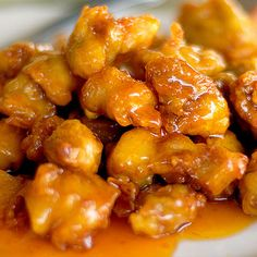Panda Express-Style Orange Chicken. Yesssss Panda Express has literally the best orange chicken I've ever had. I don't care that it's fast food... It's delicious.