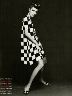 90's flashback: Ludmila Isaeva Malahova in Gaetano Navarra, photographed by Patrik Andersson for Vogue Italia March 1991.