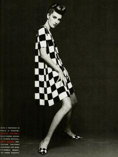 90's flashback: Ludmila Isaeva Malahova in Gaetano Navarra, photographed by Patrik Andersson for Vogue Italia March 1991.