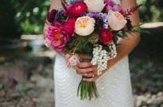 flowers by Lace and Lilies, Photography by Rachael Grace Photography - Garden Rose, Dahlia, Pieris, Jewel Tone Flowers