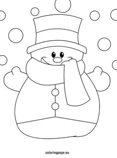 Winter Hat Coloring Pages Luxury Sněhulák Zima Winter Snowman Coloring Pages, Christmas Coloring Pages, Coloring Pages For Kids, Coloring Sheets, Coloring Books, Colouring, Christmas Drawing, Felt Christmas, Christmas Colors