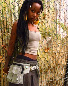 Pixie Pockets  One size canvas utility belt by manakahandmade