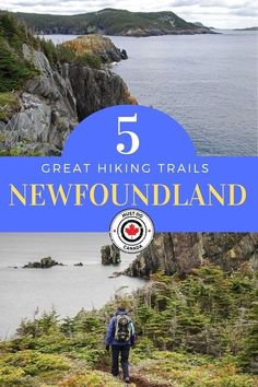Hiking in Canada is a very popular thing to do and Newfoundland is blessed with an abundance of excellent hiking trails, usually with a backdrop of rugged, Adventure Activities, Adventure Tours, Adventure Travel, Newfoundland Canada, Newfoundland And Labrador, Newfoundland Tourism, Hiking Spots, Hiking Trails, East Coast Canada