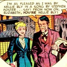 Nellie Bly - Comic Vine Stephen Foster, Nellie Bly, Romance Comics, Comic Reviews, Old Comics, Aunt, The Fosters, Vines, History