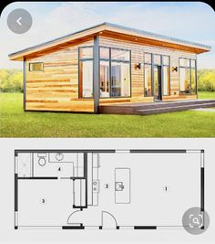 Granny pods Granny pods with loft - grannypods Tiny Cabins, Tiny House Cabin, Cabins And Cottages, Cottage House Plans, Tiny House Living, Cottage Homes, Backyard Cottage, Small Cottages, Small Houses