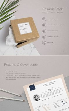Resume Template 3page Creative Resume Cover by ThisPaperFox