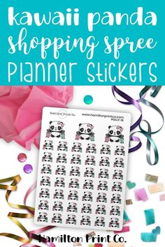 Polly the Panda goes on a Kmart run! Kawaii planner stickers for your bullet journal or planner. #planner #stickers #ideas #decorating #DIY #happy #life #aesthetic #inspiration #passion #cute #holiday #hobonichi #sticker #kit #bullet #journal #bujo #icons #kawaii Run Planner, Life Planner, Happy Planner, Best Planners, Day Planners, Kawaii Planner, Planner Supplies, Hobonichi, Bullet Journals