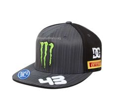 DC monster hats   Discount Monster Energy DC Ford Fitted Black Hat Sale 6e5db44231