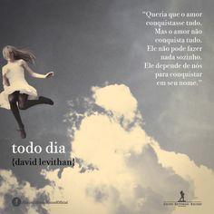 15 Melhores Imagens De Livro Todo Dia David Levithan Every Day
