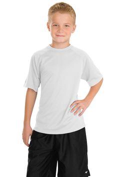 Sport-Tek Youth Dry Zone Raglan T-Shirt Y473 White