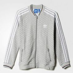 Love this grey and white stripe Adidas track jacket. Now on sale: www.tweeninstyle.com