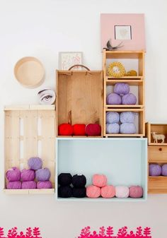 cute yarn storage idea...