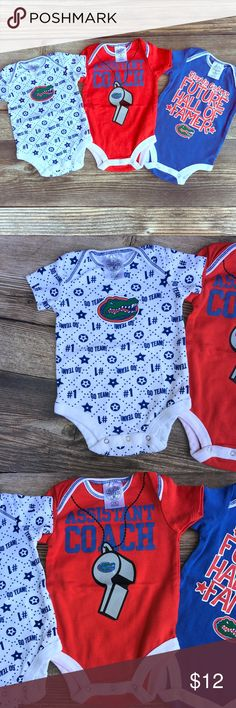 UF Gators Lot of 3 Bodysuits Washed but never worn. C'mon Gators, get up and go!!! Rivalry Threads One Pieces Bodysuits