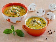 Рецепт: Сырный суп с шампиньонами в мультиварке