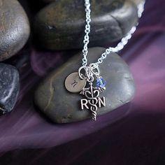 Nurse Necklace - Initial Jewelry
