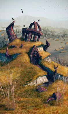 An ancient ruins by Lelek1980.deviantart.com on @deviantART