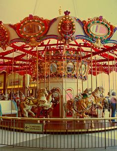 carousel Carrousel, Merry Go Round Carousel, Carosel Horse, Retro, Amusement Park Rides, Carnival Rides, Painted Pony, Fun Fair, Art Textile