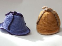 Baby's Sherlock Holmes Deerstalker hat - Crochet Patterns at Makerist, for purchase Tea Cosy Knitting Pattern, Knitting Wool, Double Knitting, Hand Knitting, Knitting Patterns, Crochet Patterns, Baby Patterns, Knitted Tea Cosies, Knitted Hats
