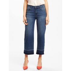 Old Navy Womens High Rise Wide Leg Jeans ($32) ❤ liked on Polyvore featuring jeans, deer grass, wide leg jeans, high-waisted jeans, high waisted wide leg jeans, white denim jeans and stretch jeans