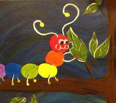 Cute Caterpillar to paint at your caterpillar themed party! #caterpillar