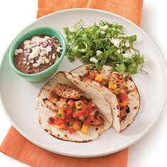 Grilled Chicken Tacos | Spice up taco night with these quick Grilled Chicken Tacos.