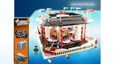 Lego - The Twist and Whirl - A Motorized Carnival Ride Lego Halloween, Lego Display, Carnival Rides, Lego Storage, Lego News, Lego Models, Lego Projects, Lego Creations, Roller Coaster