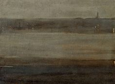 Nocturne in Grey and Silver (The Thames) James McNeill Whistler 1875 Old Paintings, Landscape Paintings, Landscapes, Abstract Canvas, Oil On Canvas, James Abbott Mcneill Whistler, American Impressionism, Grey And Gold, Nocturne