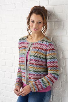 Crochet Bolero, Crochet Cardigan Pattern, Crochet Jacket, Crochet Granny, Simply Crochet, Easy Crochet, Knit Crochet, Crochet Hats, Cardigans Crochet