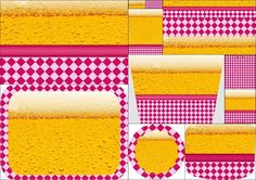Beer Party for Girls: Stickers for Candy Bar for Free Print.